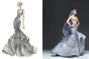 Design Sketch For The wear the drawings of famous fashion designers from sketch to dress
