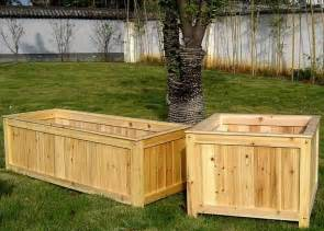 Large Wooden Planters Wood Garden Planters To Beautify Your Garden Front Yard