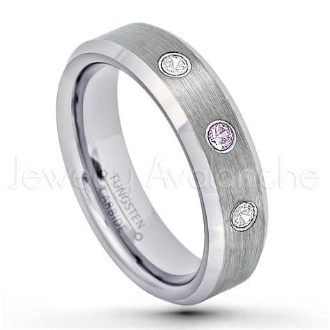 ctw amethyst diamond  stone tungsten ring