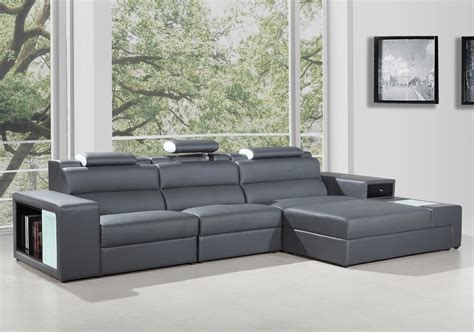 divani casa polaris contemporary bonded leather sectional