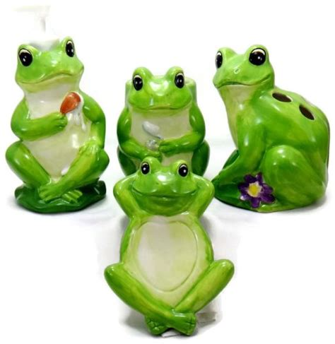 frog bathroom accessories cutest frog bathroom decor luvfrogs