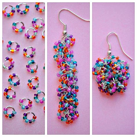 bead earrings how to make easy seed bead earrings happy go lucky