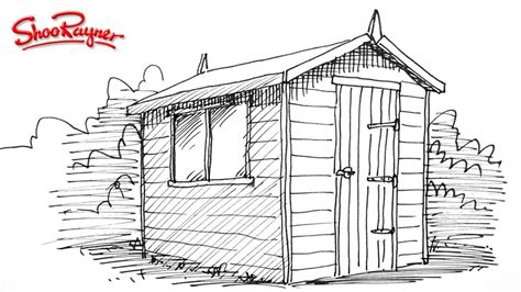 shedding shoo how to draw a garden shed