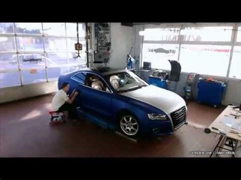 Chromleisten Folieren Audi by Folierung Audi A5 In Matt Blau Metallic Und Silber Matt