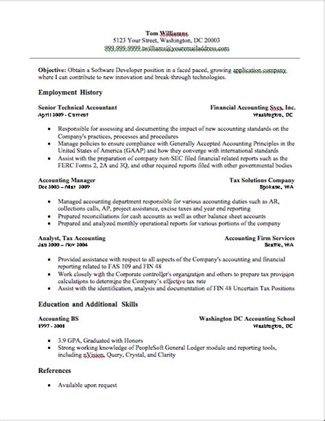 accounting resume format free accounting resume accounting resume exle