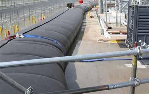 rubber st station aqua barrier bladder dam