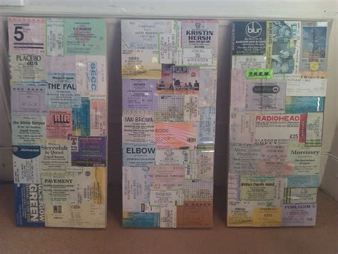 Decoupage Ideas On Canvas - decoupage gig ticket canvas 183 how to make a hanging 183
