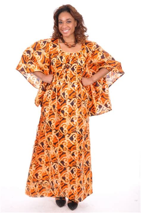 senegalese african dresses for women orange african print senegalese dress dp3376 dp3376