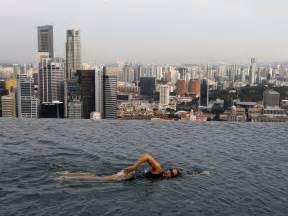 singapur schwimmbad auf dem dach marina bay sands sky park amazing wallpapers