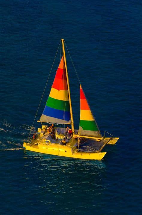 catamaran cruising on waikiki beach honolulu oahu - Buy A Boat Oahu