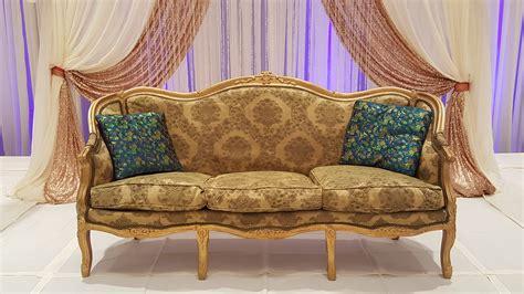 wedding loveseat sofa rental