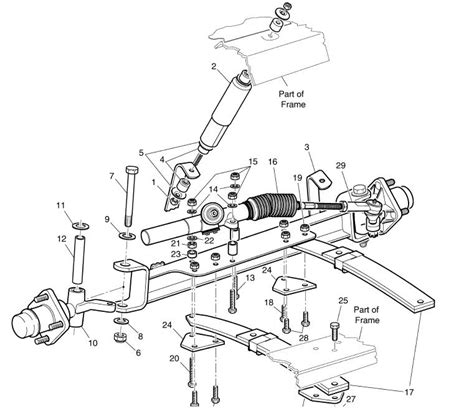 ez go parts diagram how to replace rack and pinion steering on 1996 ezgo