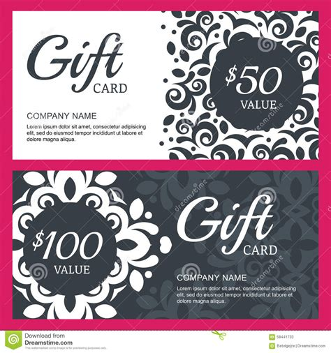 favor donation card template csv gift voucher template with floral vector illustration