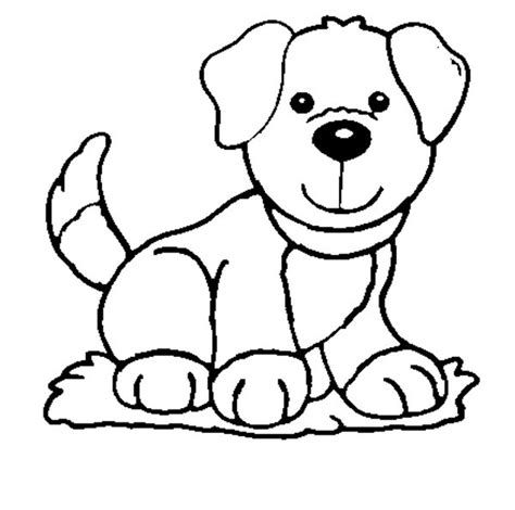 coloring in pages of dogs dog coloring pages for kids preschool and kindergarten