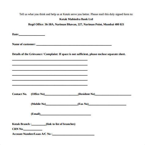Bank Complaint Letter Pdf banking ombudsman complaint form 6 free sles