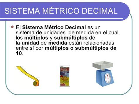sistema metrico el sistema m 233 trico decimal