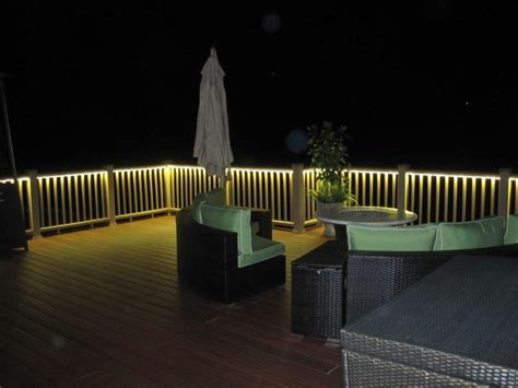 Outdoor Rail Lighting Deck Rail Lighting Ideas The House Decorating
