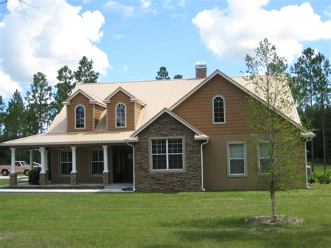 metal roof on house tan metal roofing home exterior makeover pinterest photo galleries metals and
