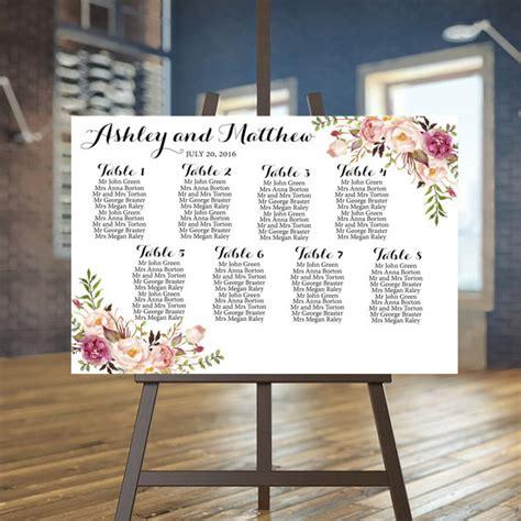 rustic wedding seating plan wedding seating chart printable rustic guests list