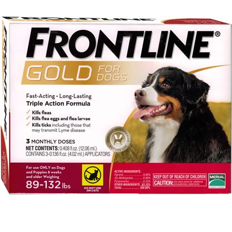 frontline gold for dogs frontline gold for dogs 89 132 lbs 3 month