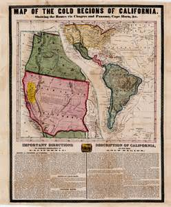 california gold broadside antique maps