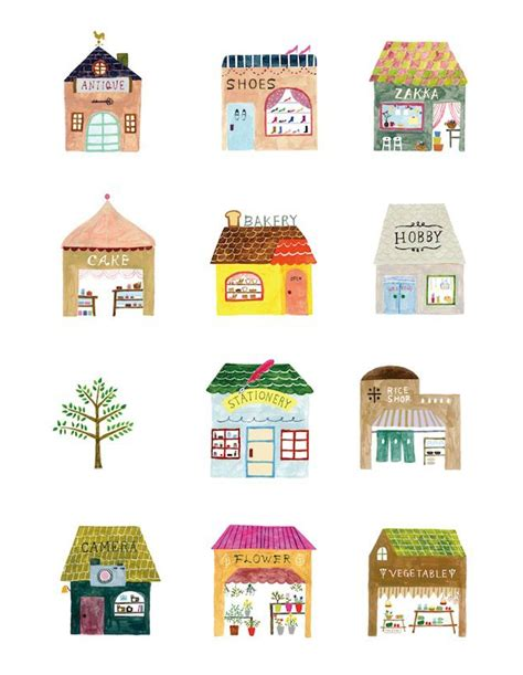 draw house illustrator une semaine sur pinterest 15 illustrations trendy mood