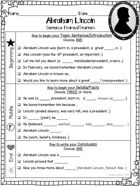 write the biography of abraham lincoln these abraham lincoln writing organizers and sentence