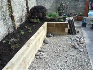 railway sleepers as garden features j b lanscapes
