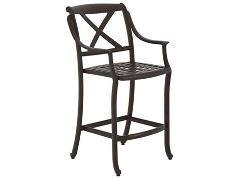 cast aluminum bar stools tropitone belmar x back cast aluminum stationary bar stool