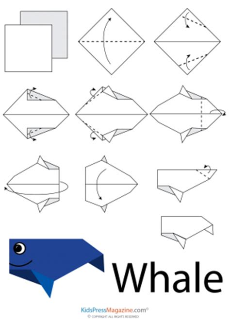 How To Make Origami Sea Animals - animals origami archives kidspressmagazine