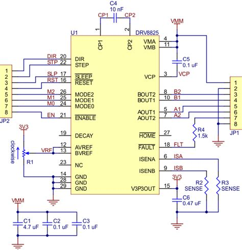 drv8825 sense resistor pololu drv8825 stepper motor driver carrier high current md20a