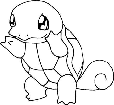 pokemon squirtle coloring pages black and white sketch