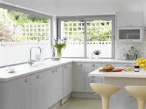 Kitchen Window by Lovely White Kitchen Design With Grey Polished Framed
