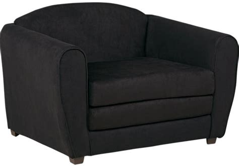 Black Sleeper Chair by Arezzo Black Sleeper Chair Seating