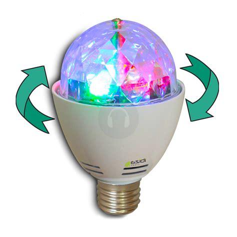Led Disco Light Bulb Ibiza Rotating Mini Rgb Led Disco Glitter Light Bulb Effect E27 House Ebay