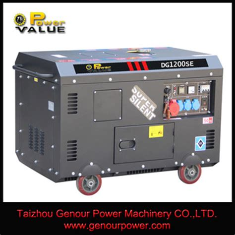 ac single phase silent diesel generator 12 kva with ats