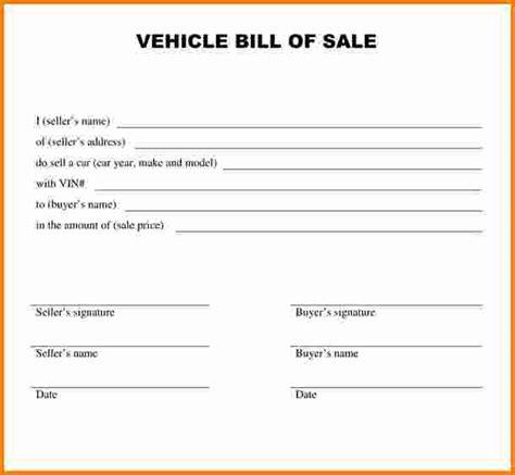 printable bill of sale car nj 9 sle bill of sale for car cashier resume