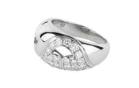 bulgari nuvole collection platinum ring for sale