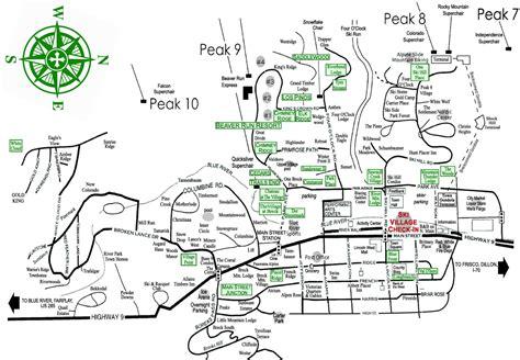 Plan 888 15 breckenridge map ski village resorts