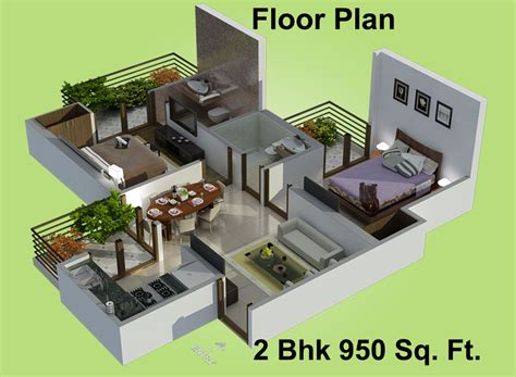 home design 3d 2bhk 1115 sq ft 2 bhk 2t apartment for sale in charms india