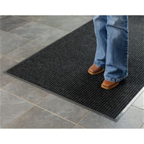 Foot Cleaning Mat by Mats Runners Entrance Floor Cleaning Ribbed 4 Foot Wide Roll Entrance Mat Charcoal