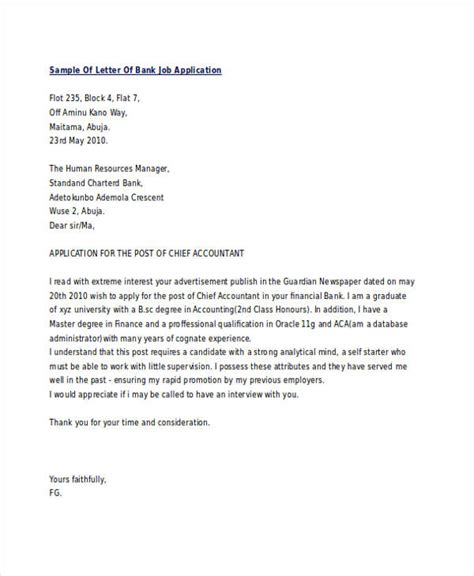 sle application letter for sle application letter for bank teller position with no