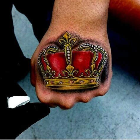 crown hand tattoo crown tattoos for designs ideas and meaning tattoos