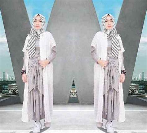 Gamis Murah Gamis Cardi Salur baju muslim wanita setelan maxy cardi pashmina cantik