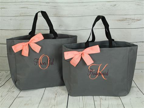 Monogramme Toto by 5 Personalized Tote Bag Bridesmaid Gifts Set Of 5
