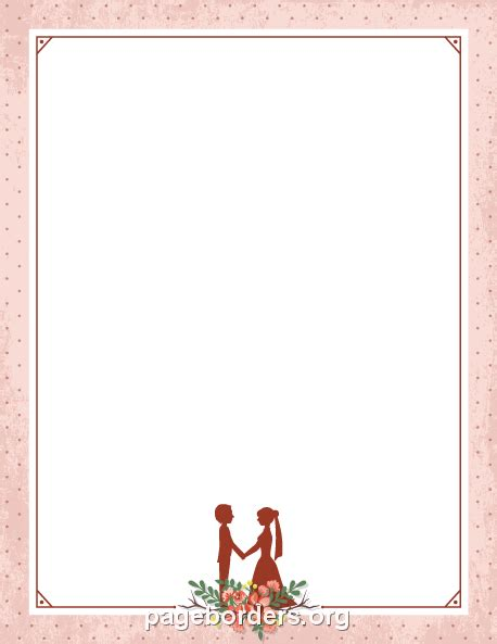 Wedding Border For Word by Printable Pink Wedding Border Use The Border In Microsoft