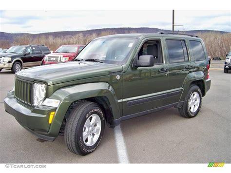 jeep sport green 2009 jeep green metallic jeep liberty sport 4x4 22341775