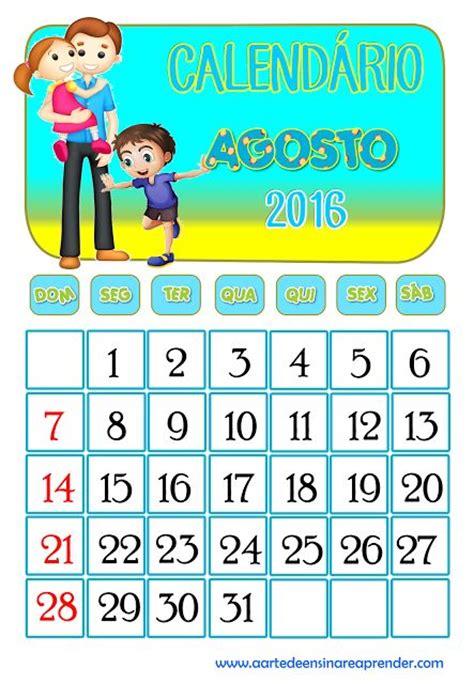 Calendã Do Mãªs De Abril De 2016 Im 225 Genes De Calendarios Infantiles De Agosto 2016 Para