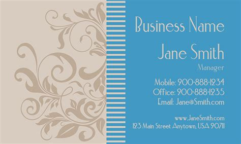 jewelry business cards templates free blue jewelry business card design 1901011