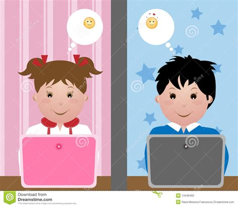 kid chat room chatting stock photography image 14446492